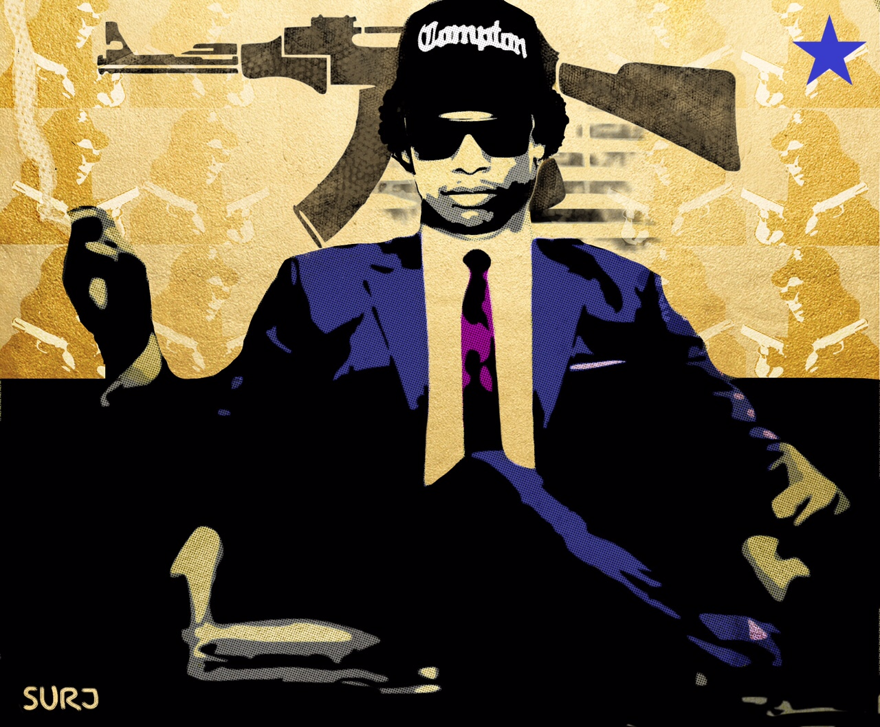 eazy e, mad men, art, surj, surj the artist, art by surj, pop art