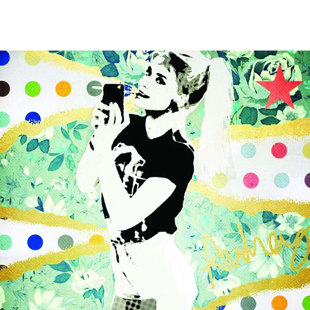 breakfast at tiffanys, audrey hepburn, arrt pop art,