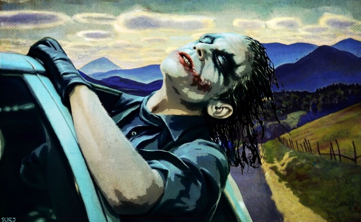 heath ledger, the joker, the dark knight, batman, art, pop art