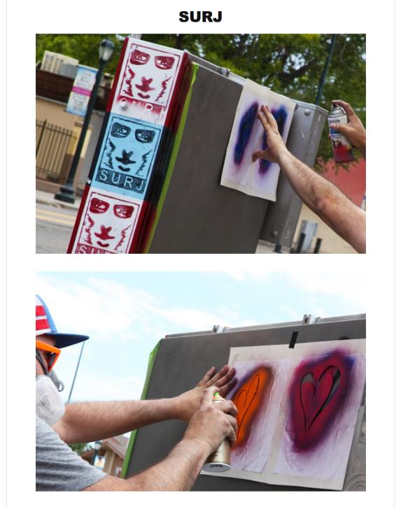 Denver Art on the Ave Contest, Denver Art on the Ave Contest featuring SURJ, denver street art, denver art, surj, surj denver