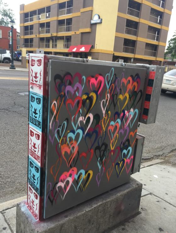 denver street art stencil, denver street art graffiti