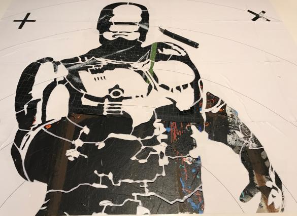robocop stencil art